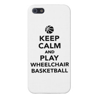 Keep calm and play wheelchair basketball iPhone SE/5/5s case