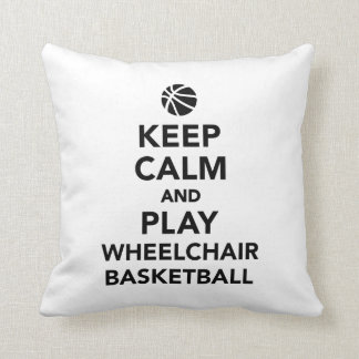 Keep calm and play wheelchair basketball throw pillow