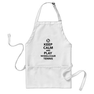 Keep calm and play wheelchair tennis adult apron