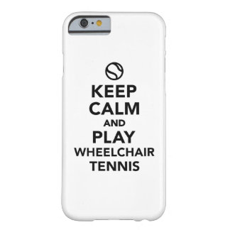 Keep calm and play wheelchair tennis barely there iPhone 6 case