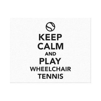 Keep calm and play wheelchair tennis canvas print