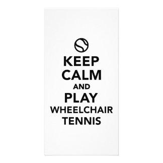 Keep calm and play wheelchair tennis card