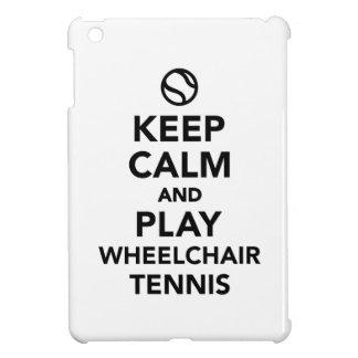 Keep calm and play wheelchair tennis iPad mini covers