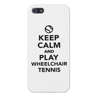 Keep calm and play wheelchair tennis iPhone SE/5/5s case