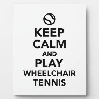 Keep calm and play wheelchair tennis plaque
