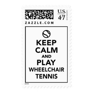 Keep calm and play wheelchair tennis postage