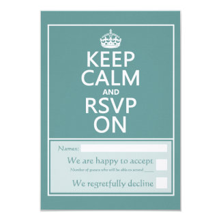 Keep Calm and Please RSVP Card