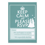 Keep Calm and Please RSVP 3.5x5 Paper Invitation Card