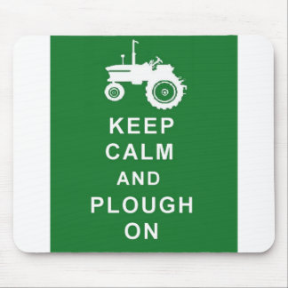 KEEP CALM AND PLOUGH MOUSEPAD BIRTHDAY CHRISTMAS