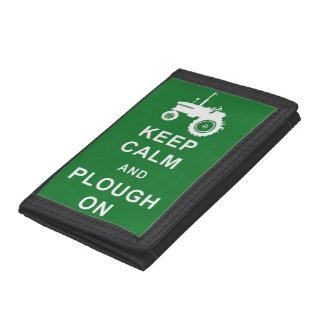 KEEP CALM AND PLOUGH ON TRACTOR FARMING WALLET