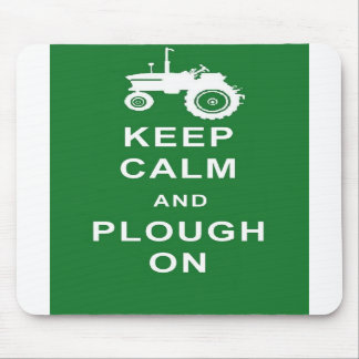 KEEP CALM AND PLOUGH ON TRACTOR MOUSEMAT FARMER MOUSE PAD