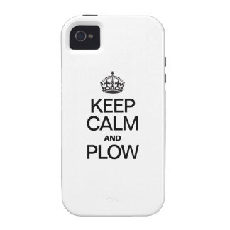 KEEP CALM AND PLOW Case-Mate iPhone 4 COVER