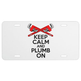 Keep Calm and Plumb on License Plate