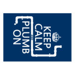 Keep Calm and Plumb On (plumber/plumbing) Large Business Cards (Pack Of 100)