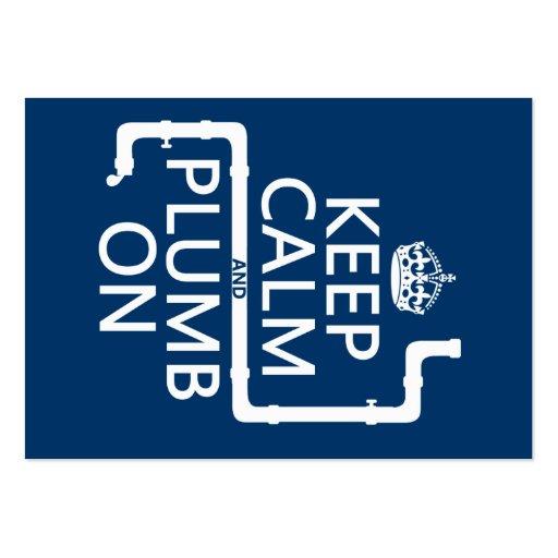 Keep Calm and Plumb On (plumber/plumbing) Business Card Templates