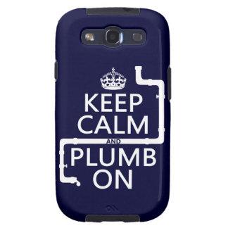 Keep Calm and Plumb On (plumber/plumbing) Galaxy S3 Cover