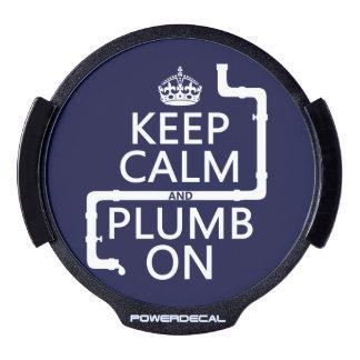Keep Calm and Plumb On (plumber/plumbing) LED Window Decal