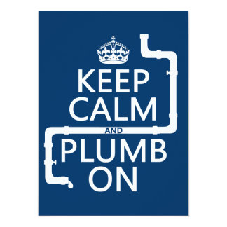 Keep Calm and Plumb On (plumber/plumbing) Personalized Announcement