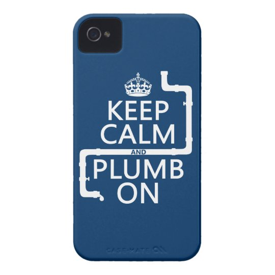 Keep Calm and Plumb On (plumber/plumbing) iPhone 4 Cover