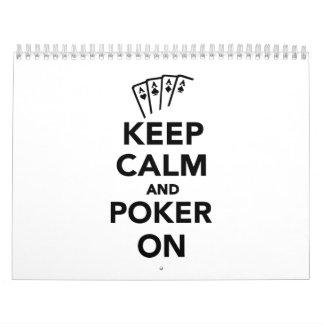 Keep calm and Poker on Calendar