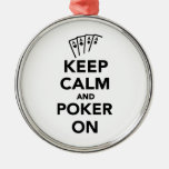 Keep calm and Poker on Ornament