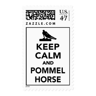 Keep calm and Pommel horse Stamp