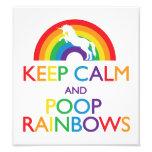 Keep Calm and Poop Rainbows Unicorn Photo Print