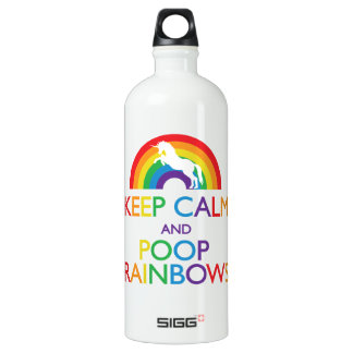"Keep Calm and Poop Rainbows Unicorn ""Read Below"" SIGG Traveler 1.0L Water Bottle"