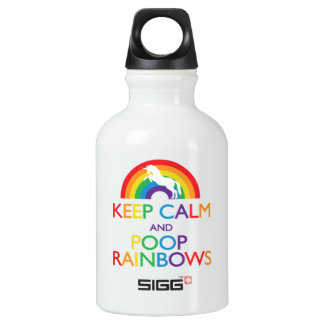 Keep Calm and Poop Rainbows Unicorn Small SIGG Traveler 0.3L Water Bottle