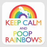 Keep Calm and Poop Rainbows Unicorn Stickers