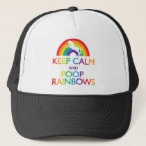 Keep Calm and Poop Rainbows Unicorn Trucker Hat