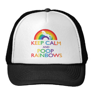 Keep Calm and Poop Rainbows Unicorn Trucker Hat