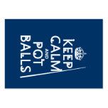 Keep Calm and Pot Balls (snooker/pool) Large Business Cards (Pack Of 100)