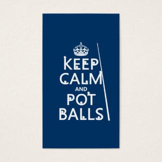 Keep Calm and Pot Balls (snooker/pool) Business Card