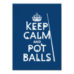 Keep Calm and Pot Balls (snooker/pool) 5.5x7.5 Paper Invitation Card