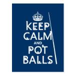 Keep Calm and Pot Balls (snooker/pool) Postcard