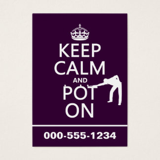 Keep Calm and Pot On (Snooker/Pool) Business Card
