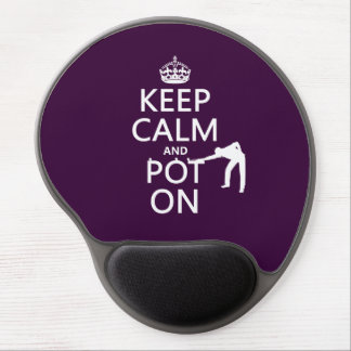 Keep Calm and Pot On (Snooker/Pool) Gel Mouse Pad