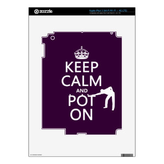 Keep Calm and Pot On (Snooker/Pool) iPad 3 Decal