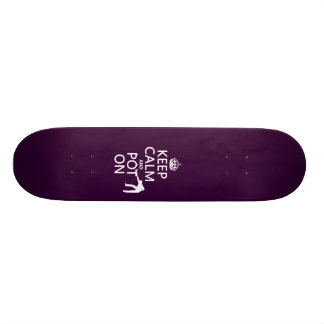 Keep Calm and Pot On (Snooker/Pool) Skateboard Deck