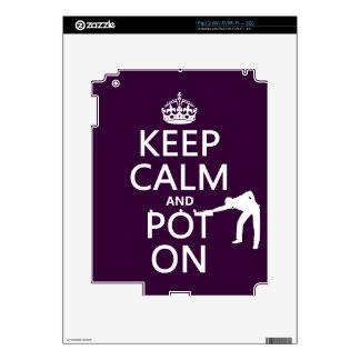 Keep Calm and Pot On (Snooker/Pool) Skin For The iPad 2