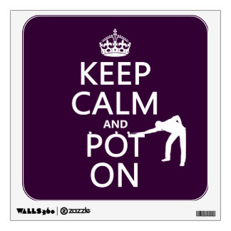 Keep Calm and Pot On (Snooker/Pool) Wall Graphic