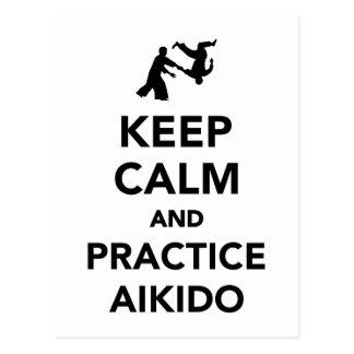 Keep calm and practice Aikido Postcard