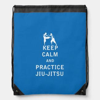 Keep Calm and Practice Jiu-Jitsu Drawstring Backpack