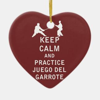 Keep Calm and Practice Juego del Garrote Ceramic Ornament