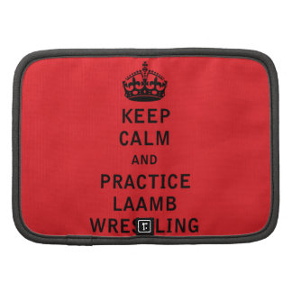 Keep Calm and Practice Laamb Wrestling Folio Planners