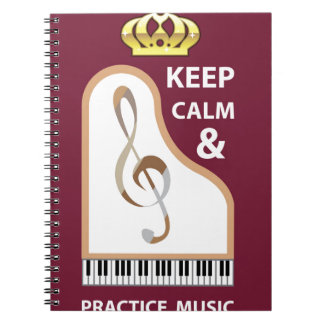 Keep Calm and Practice Music vector Notebook