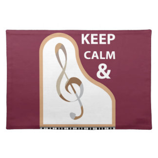 Keep Calm and Practice Music vector Placemat
