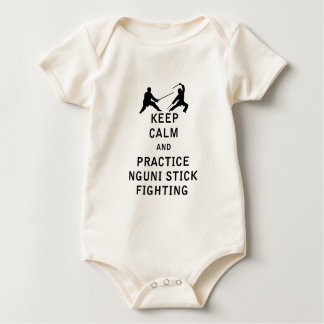 Keep Calm and Practice Nguni Stick Fighting Baby Bodysuit