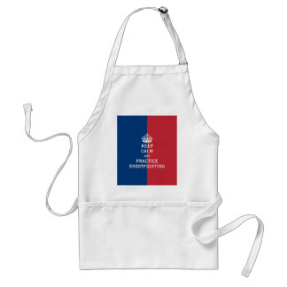 Keep Calm and Practice Shootfighting Adult Apron